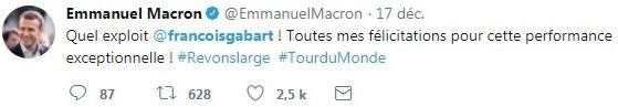 François Gabart Emmanuel Macron