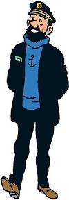 Marin célèbre bande dessinée Capitaine Haddock