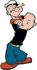 Marin célèbre bande dessinée Popeye