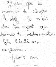 Affaire Grégory lettre