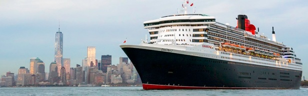 Cunard's Queen Mary 2 departs New York