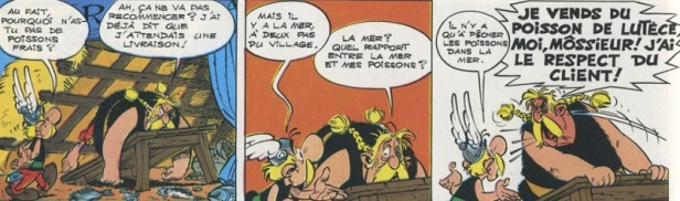 Asterix blague poisson pêche