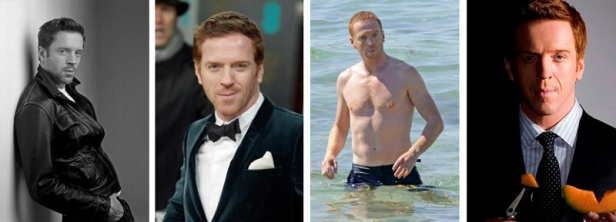 Bel homme roux Damian Lewis