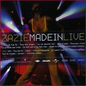 Zazie Discographie Made in Live