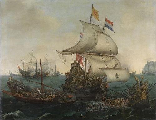Hendrick Cornelisz Vroom peinture navire guerre