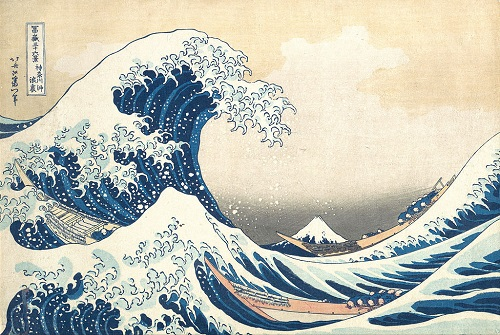 Hokusai peinture mer vague