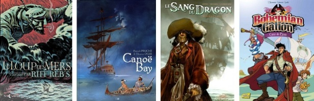 Liste Bandes dessinées Pirates