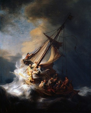 Rembrandt peinture océan religion