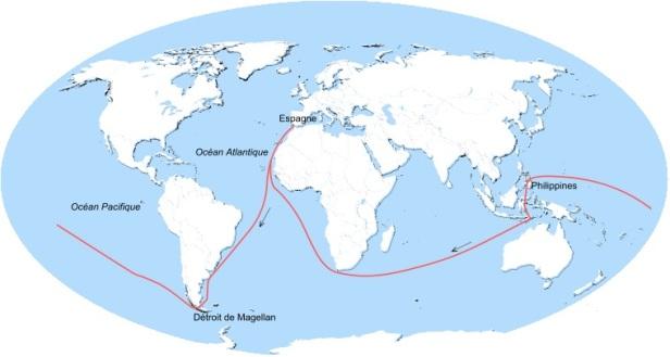 Carte voyage Magellan