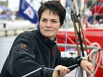 Britain's MacArthur stands at start point of Route du Rhum in Brittany