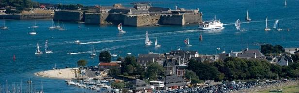 100710-Lorient vue du ciel,port de plaisance du Kernevel à Larmor Plage