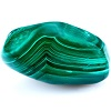 Mineral malachite on a white background